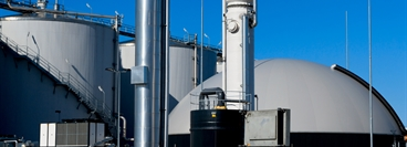 Modern biogas plant in Holland, using sugar beet pulp as a renewable form of energy production