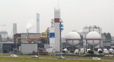 Plant of Linde Gas Benelux, location Botlek near Rotterdam, The Netherlands